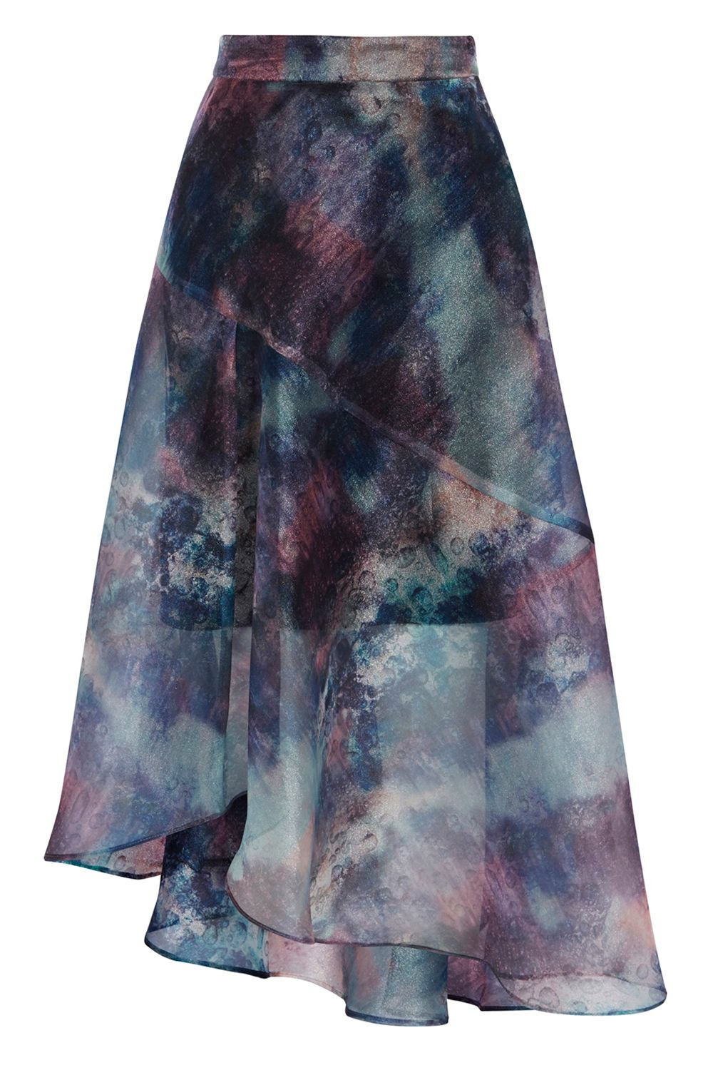 Coast Taryn Organza Printed Skirt, Multi-Coloured