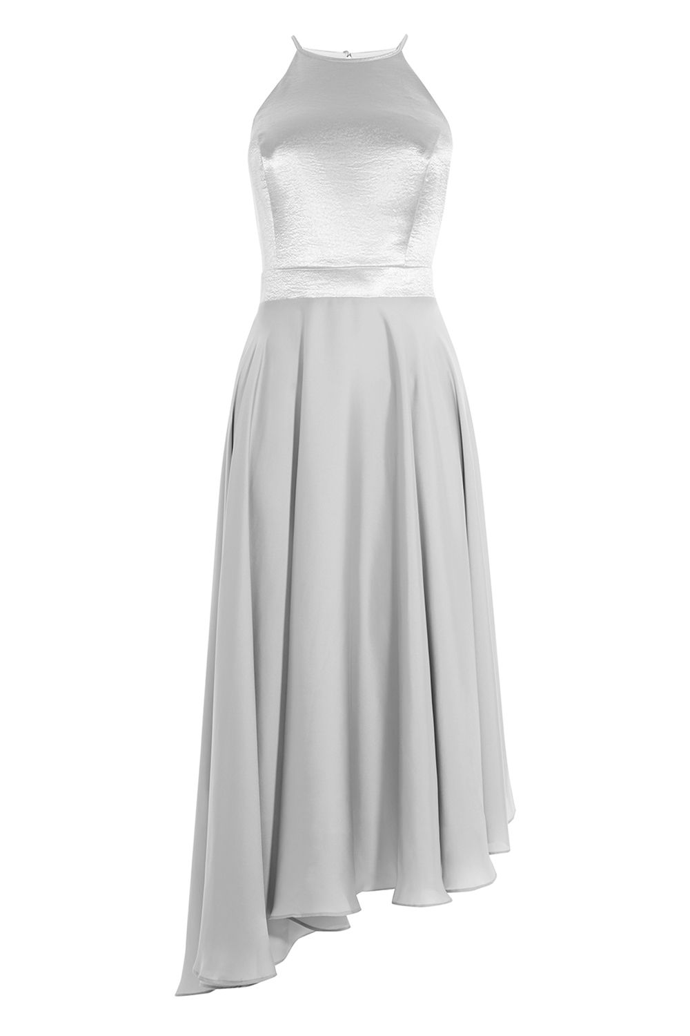 Coast Becky Satin Bridesmaids Dress, Silver