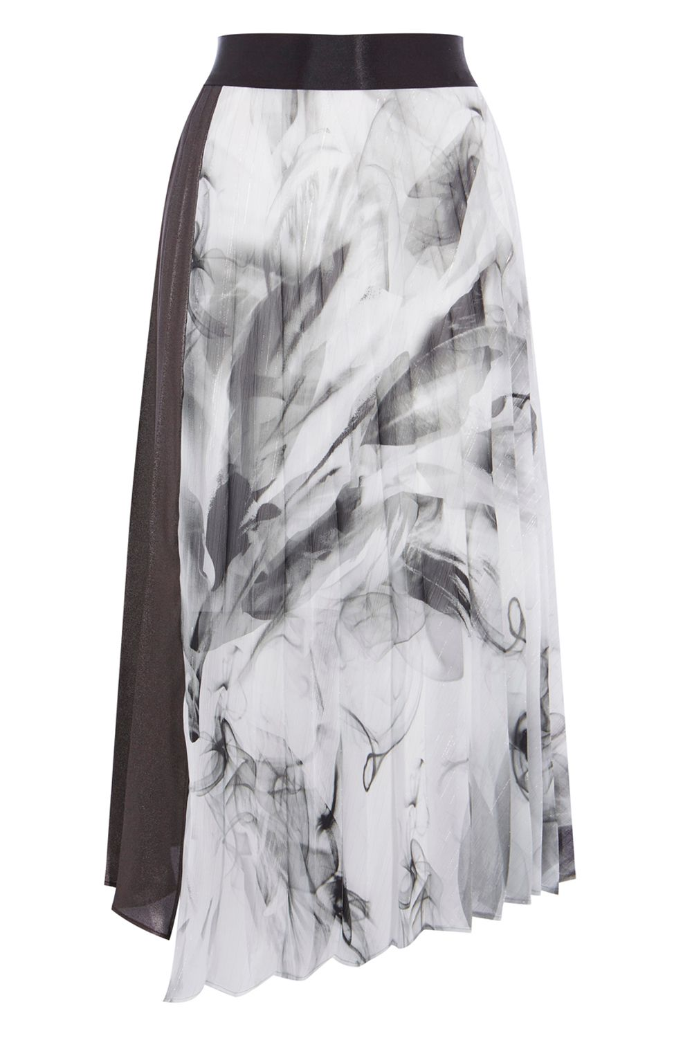 Coast Samira Printed Metallic Skirt, Multi-Coloured