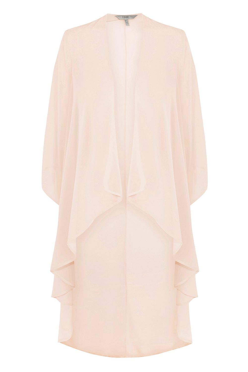 Coast Carrie Chiffon Long Cape, Pink