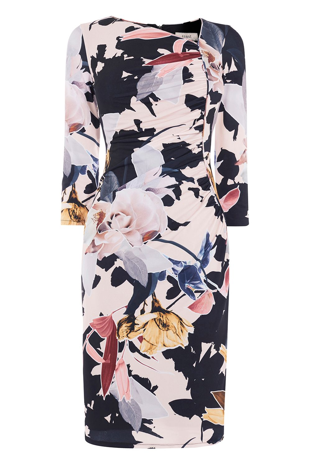 Coast Canta Print Jersey Dress Me, Multi-Coloured