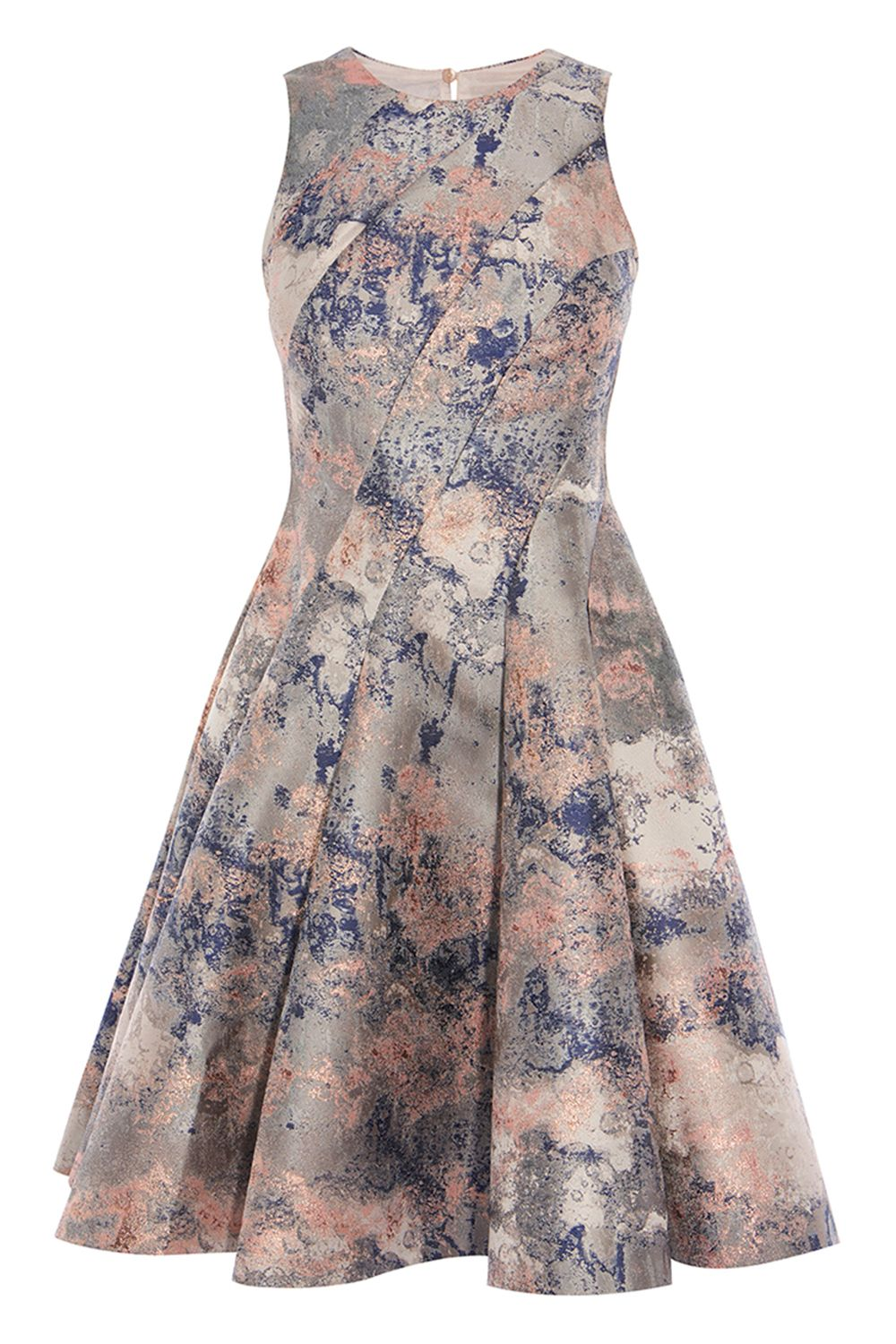 Coast Blair Marble Jacquard Dress, Multi-Coloured