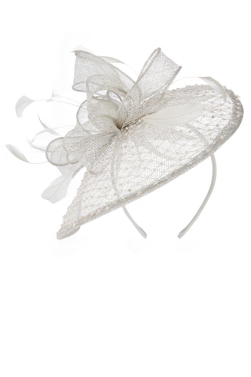 Coast Avril Fascinator, Silver