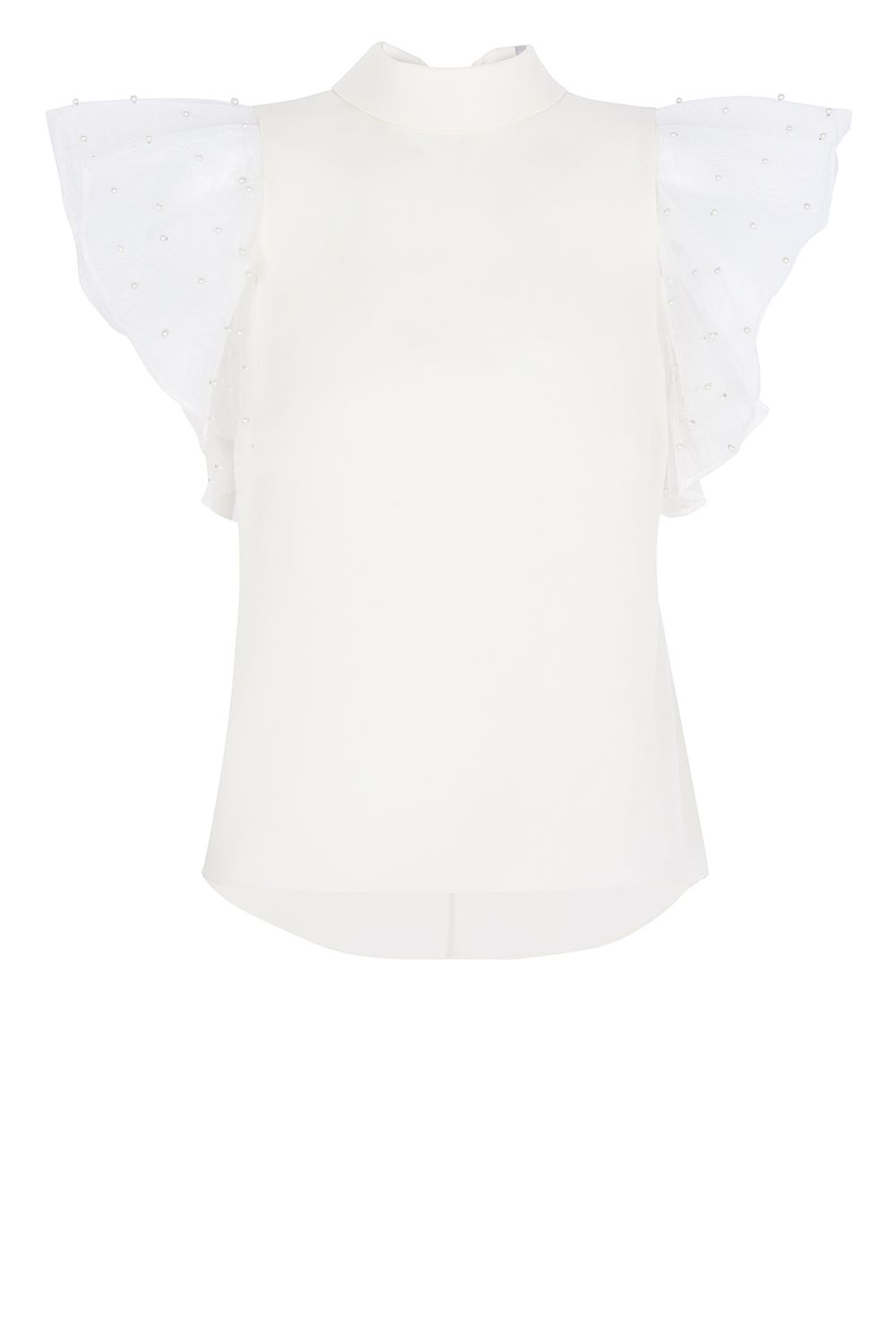 Coast Aliysia Pearl Embroidered Top, White