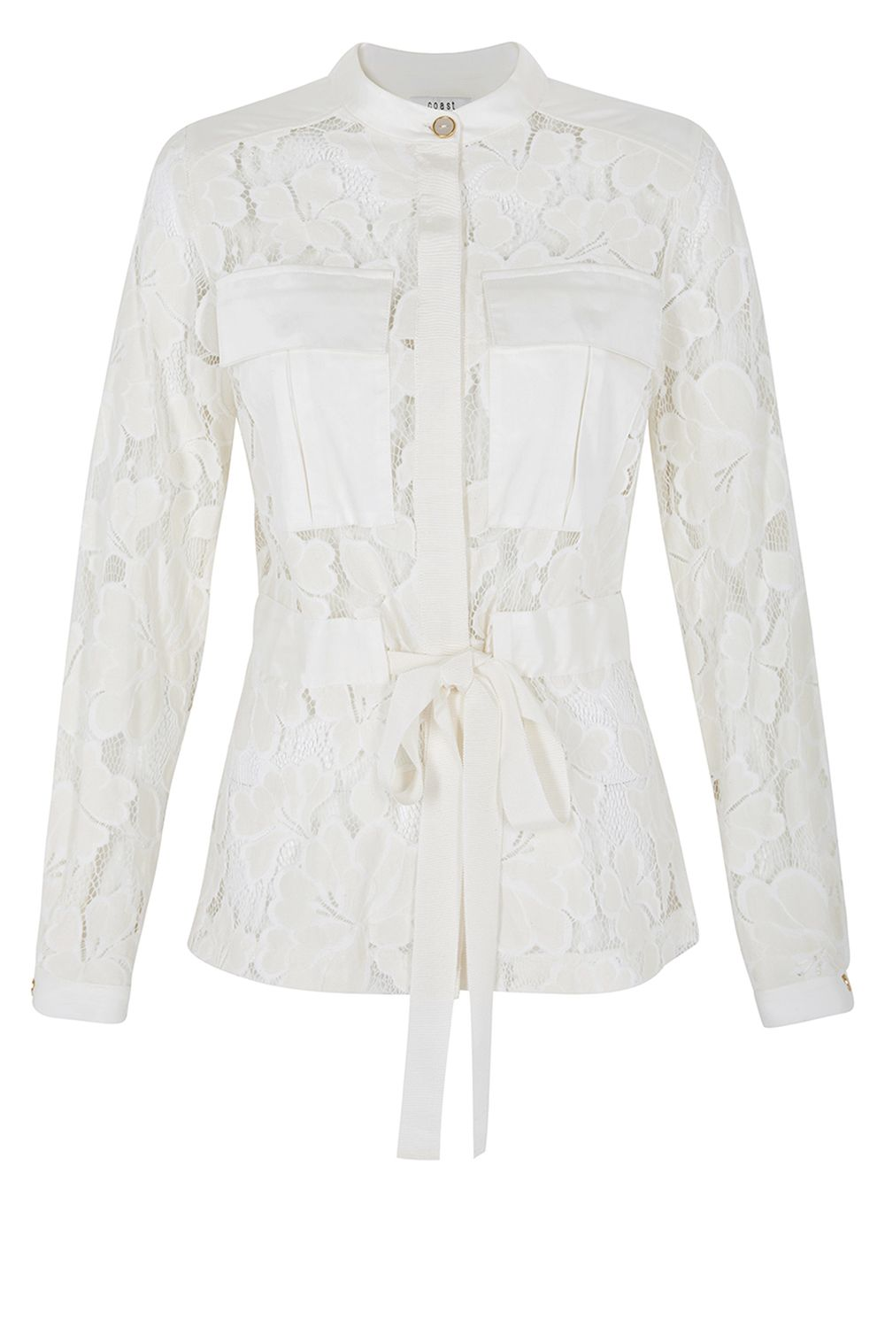 Coast Arianna Lace Shacket, White