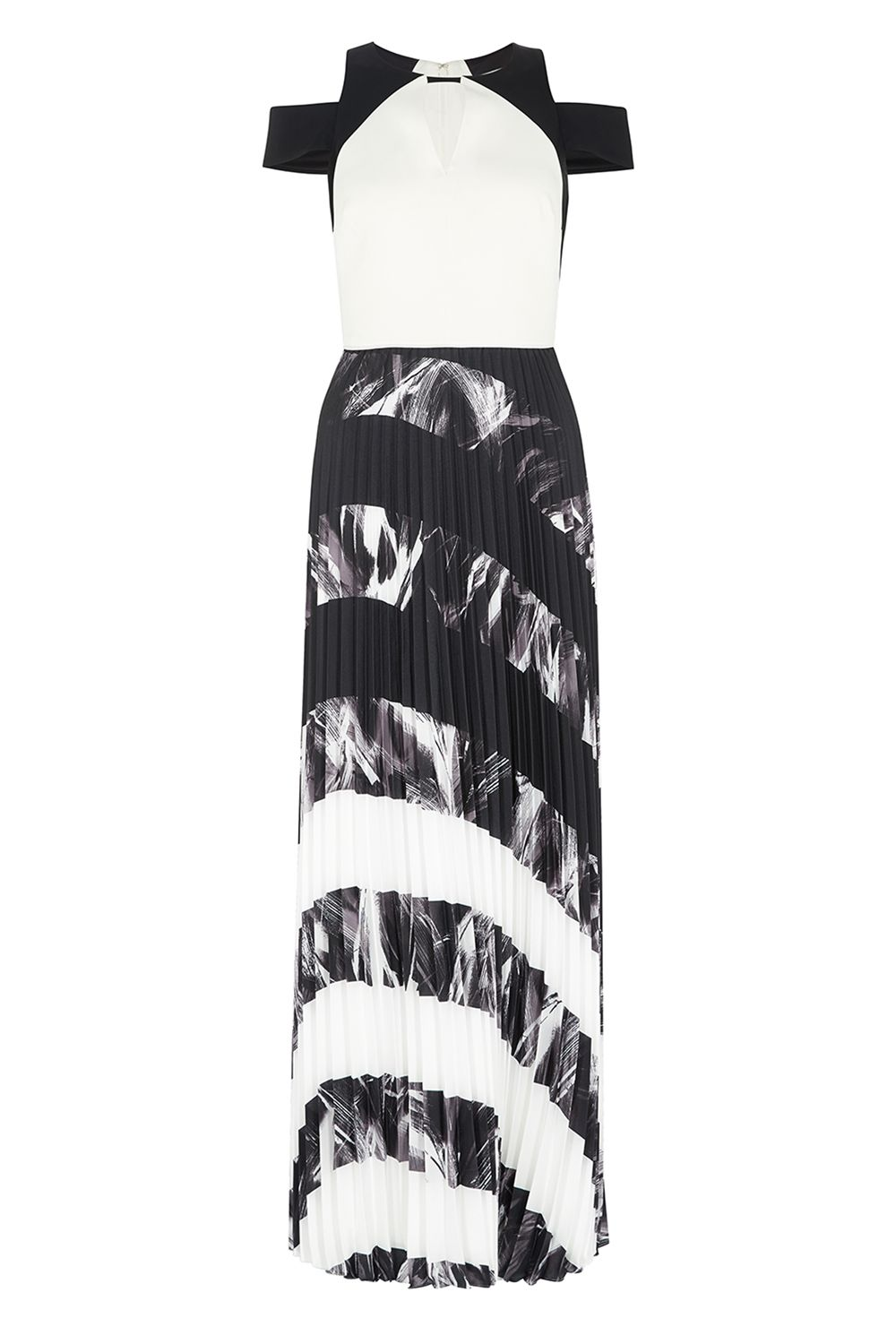 Coast Amery Pleated Maxi Dress, Multi-Coloured