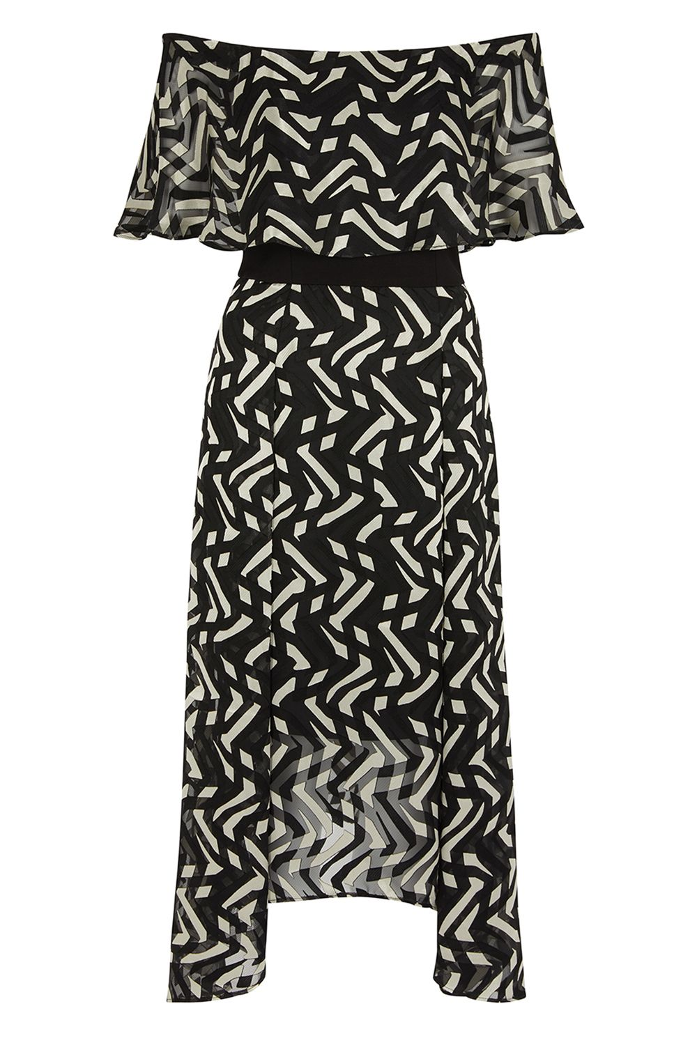 Coast Ada Bardot Midi Dress, Multi-Coloured