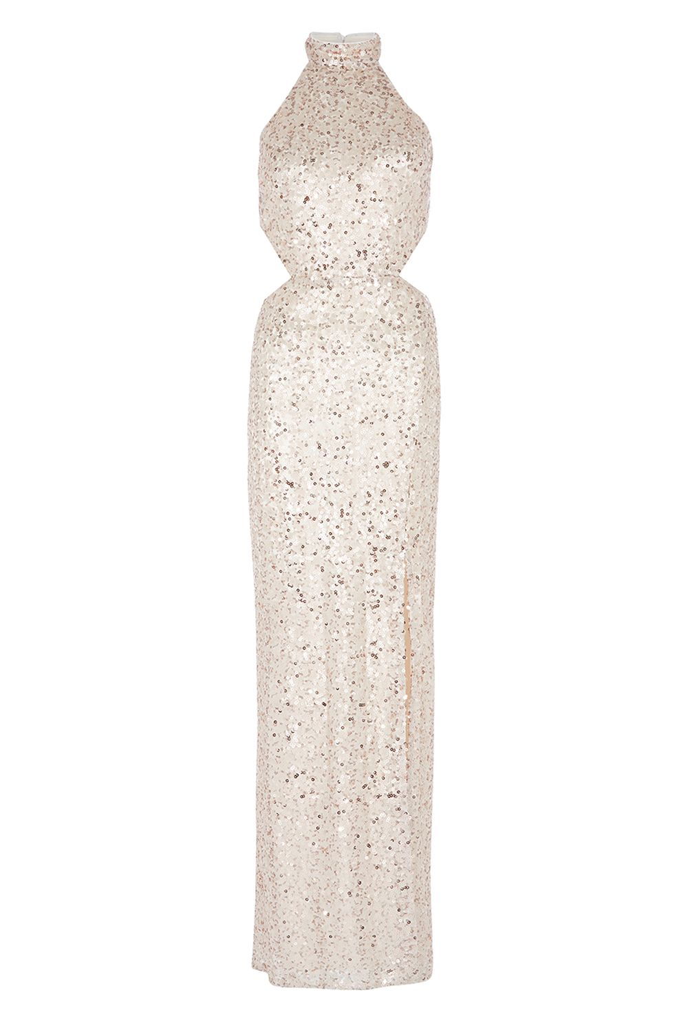 Coast Ariel Sequin Maxi Dress, Gold Silverlic