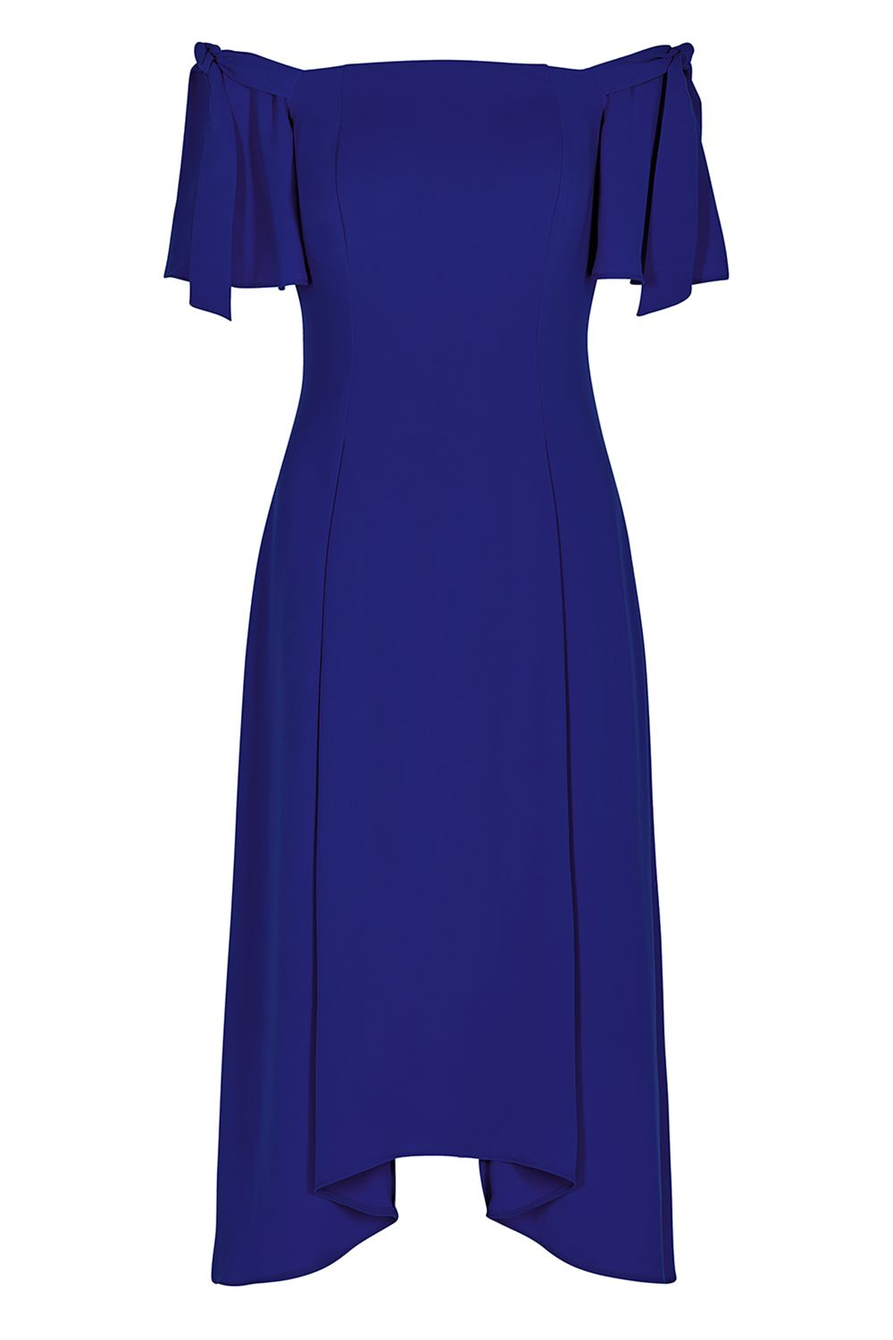 Coast Bonnie Bardot Midi Dress, Cobalt