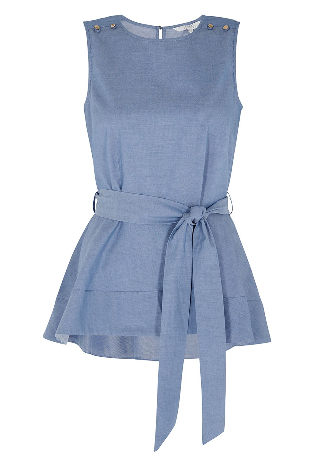 Coast Bella Peplum Top, Blue