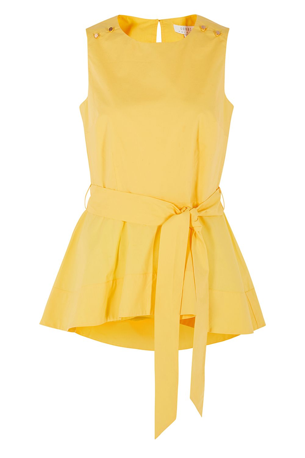 Coast Bella Peplum Top, Yellow