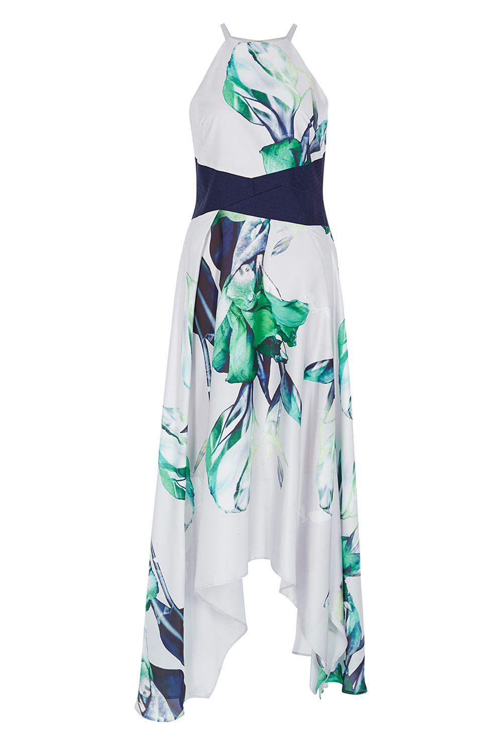Coast Audrey Print Midi Dress, Multi-Coloured