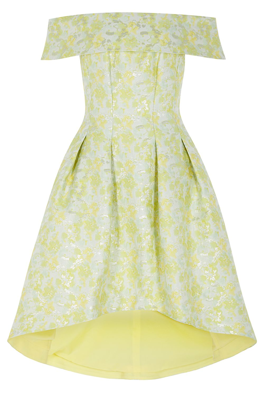 Coast Alba Jacquard Bardot Dress, Multi-Coloured