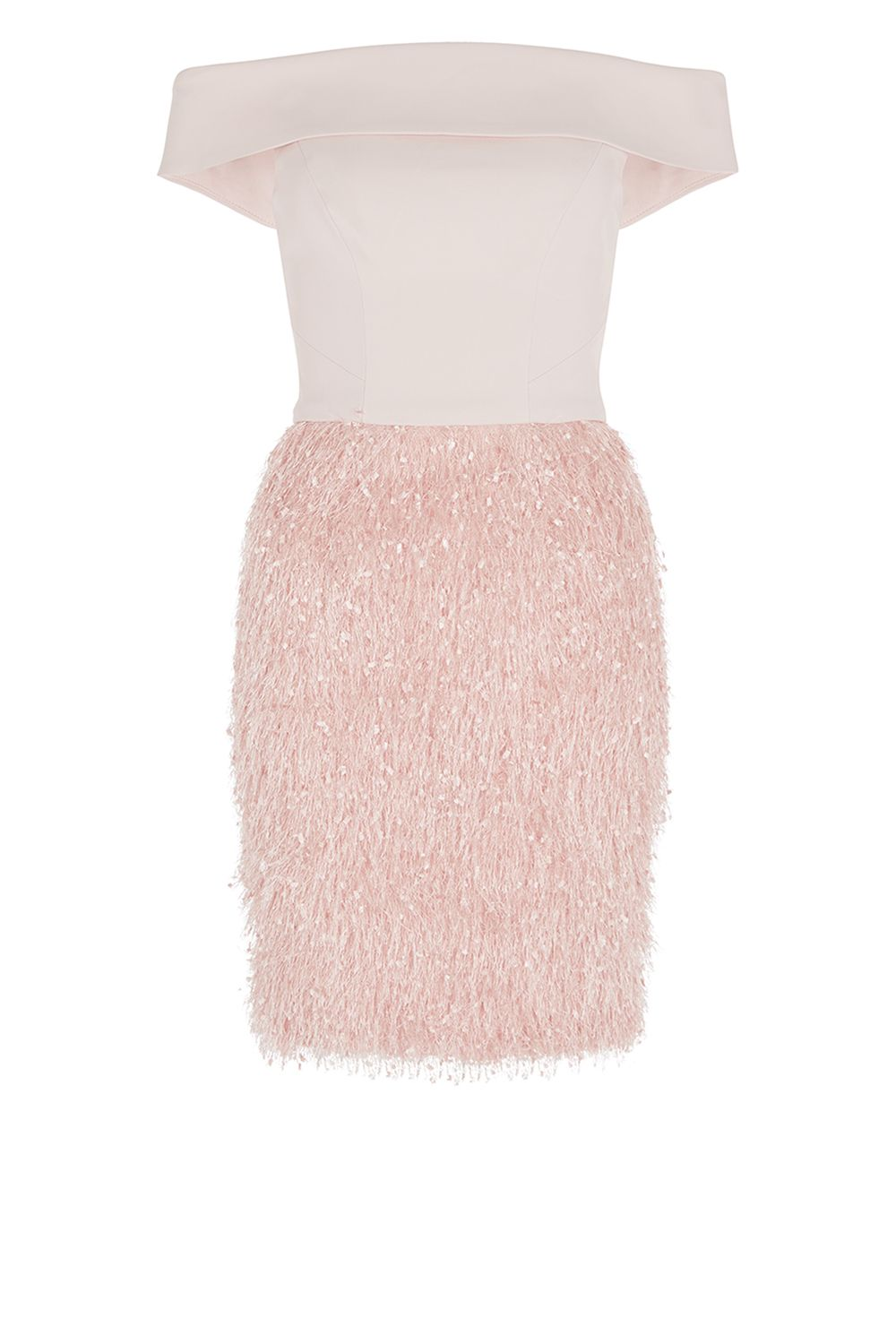 Coast Ashley Feather Shift Dress, Pink