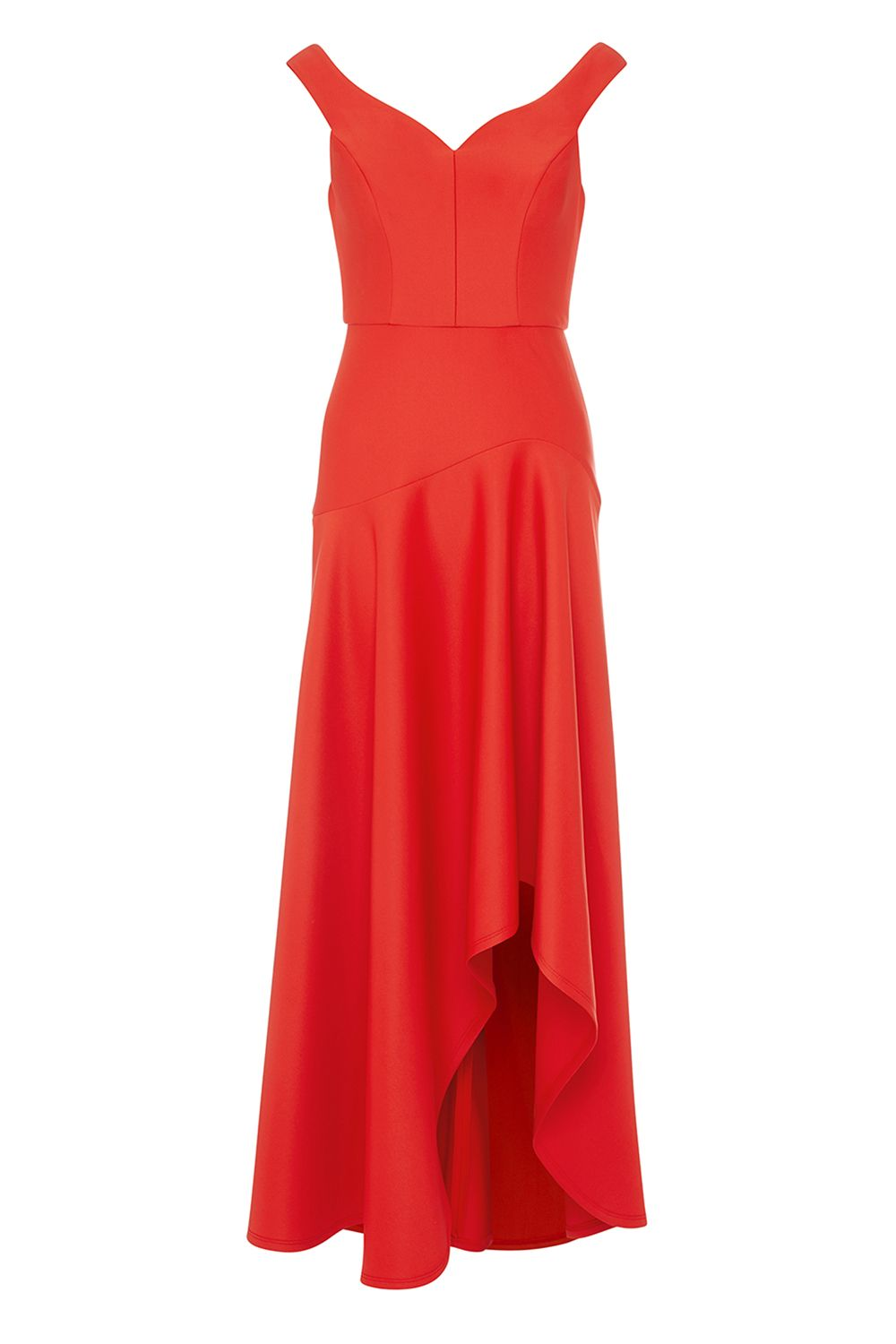 Coast Belle Seam Detail Maxi Dress, Red