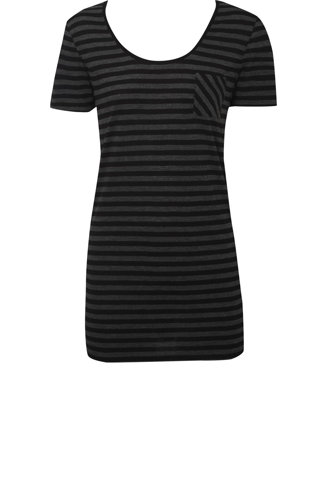 Oasis Stripe basic pocket tee product image