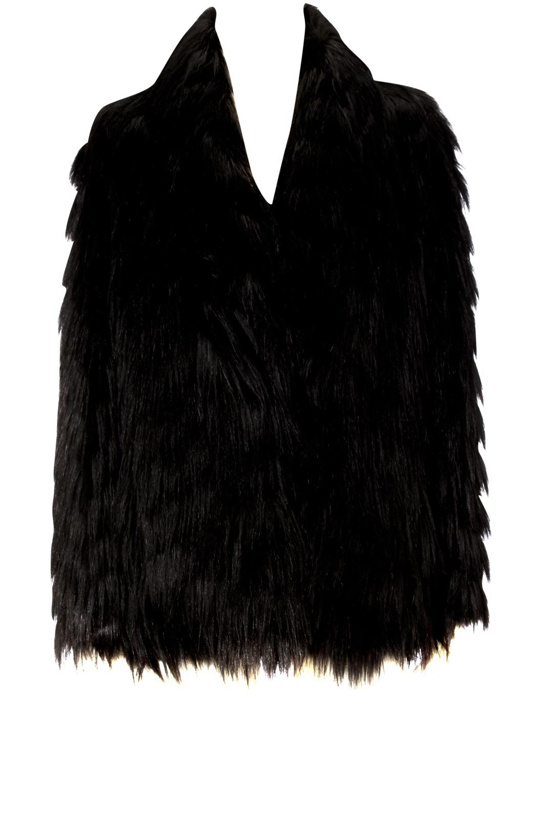 Oasis Faux fur coat Black