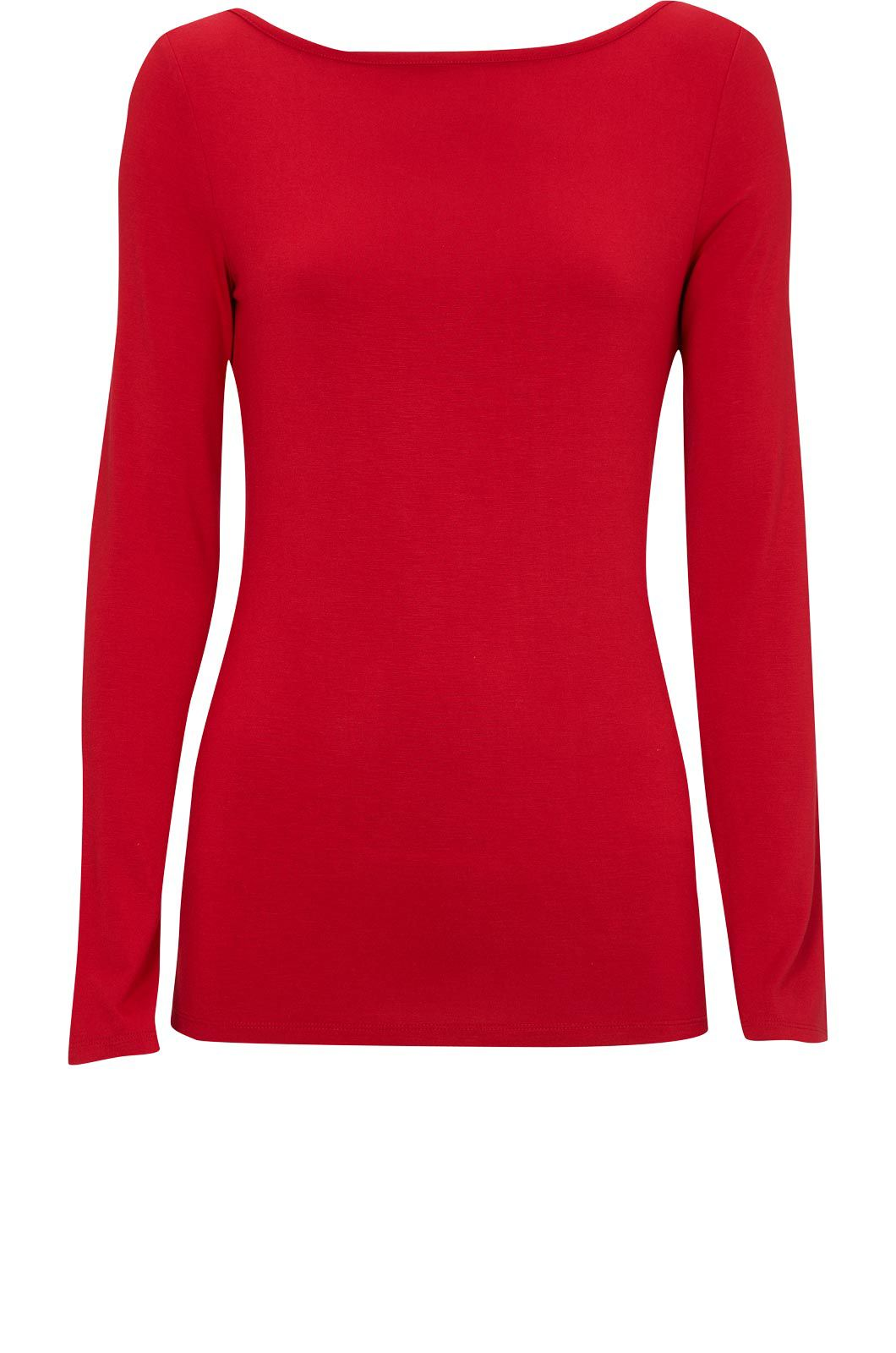 Oasis Boatenck long sleeve tee Red product image