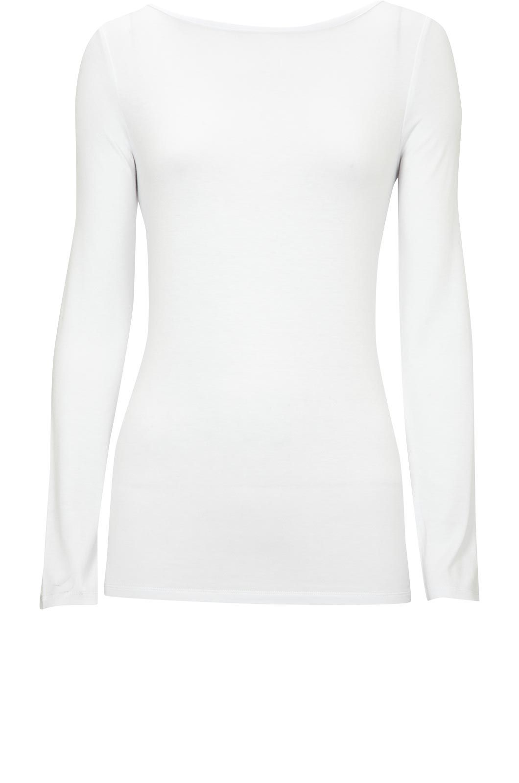 Oasis Boatneck long sleeve tee White product image