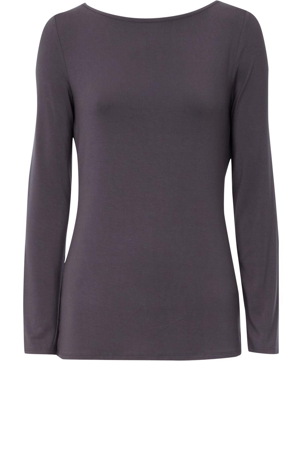 Oasis Boatenck long sleeve tee Grey product image