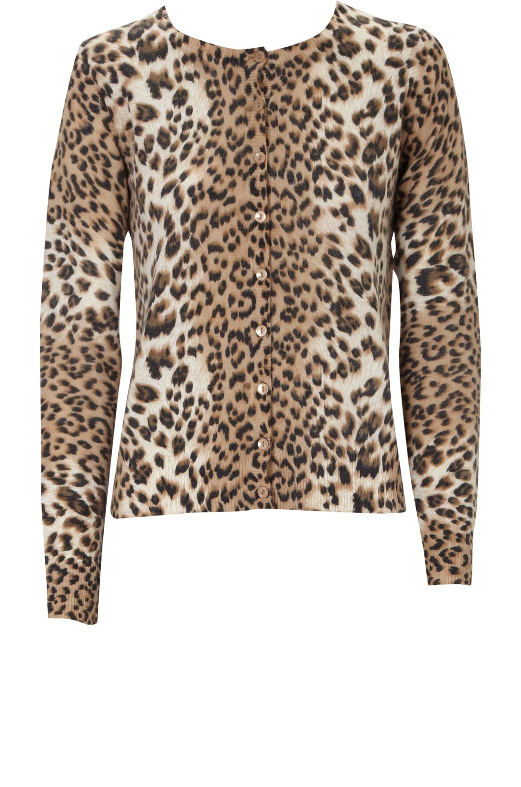 Leopard print cardi Multi-Coloured