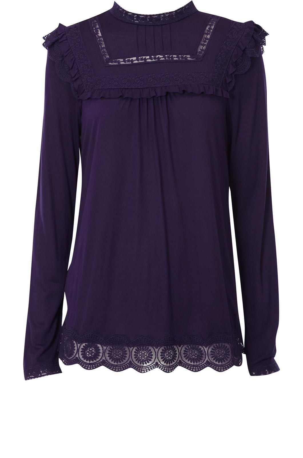 Oasis Long sleeve victoriana blouse Purple product image