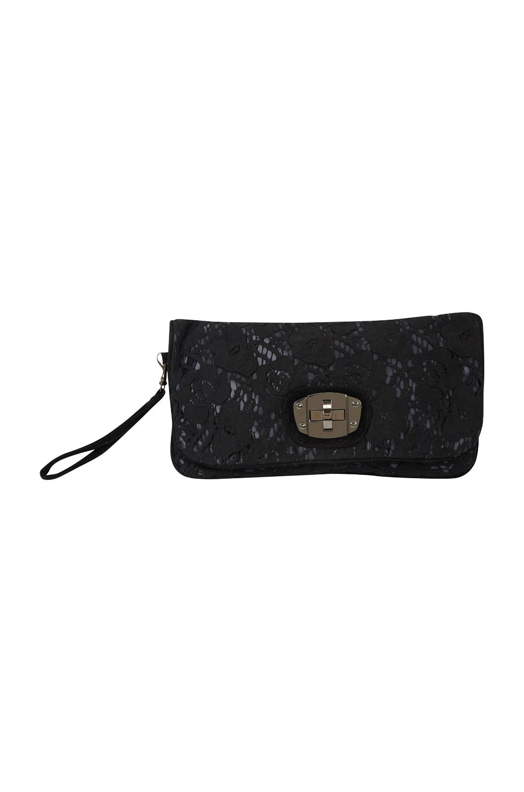 Oasis Liza lace clutch Black product image