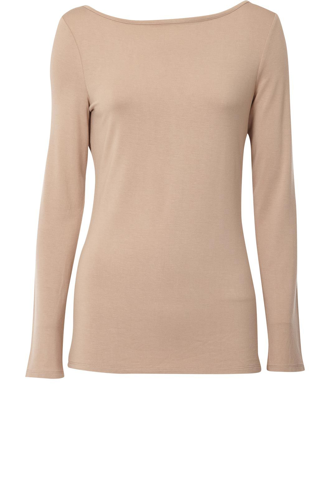 Oasis Boatneck long sleeve tee Natural product image