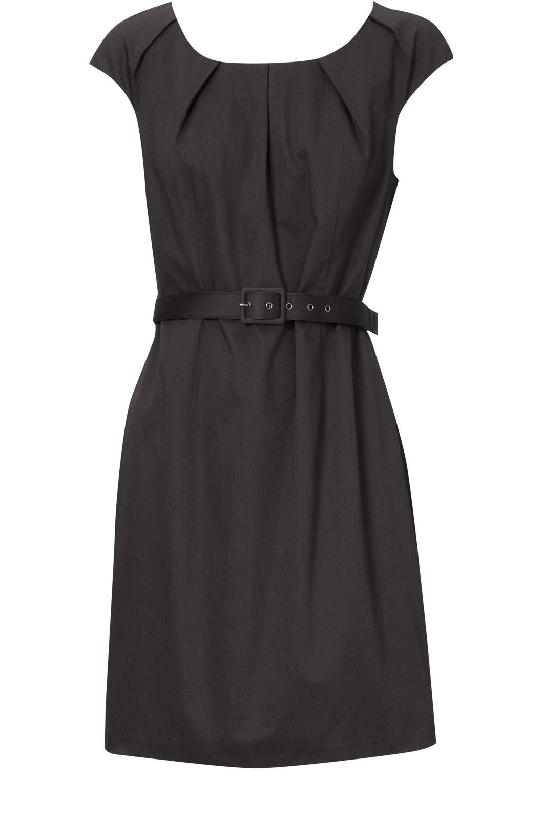 Oasis Cotton sateen frill belted dress product image