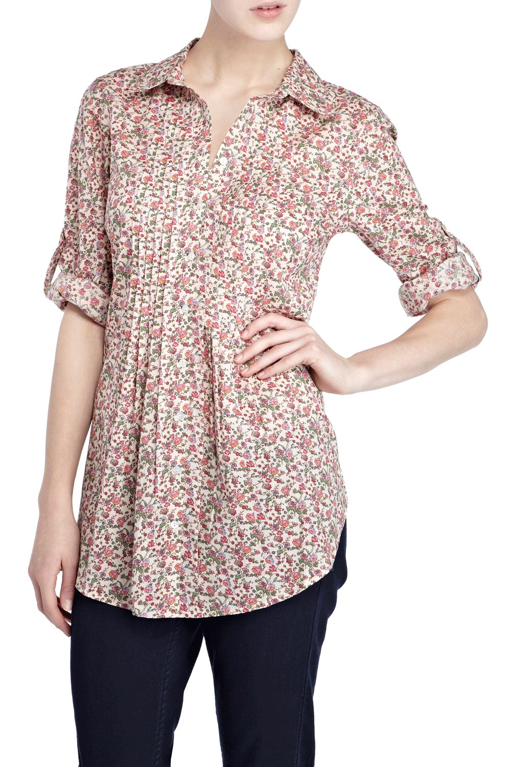 Oasis Printed blouse shirt dress Multi-Coloured product image