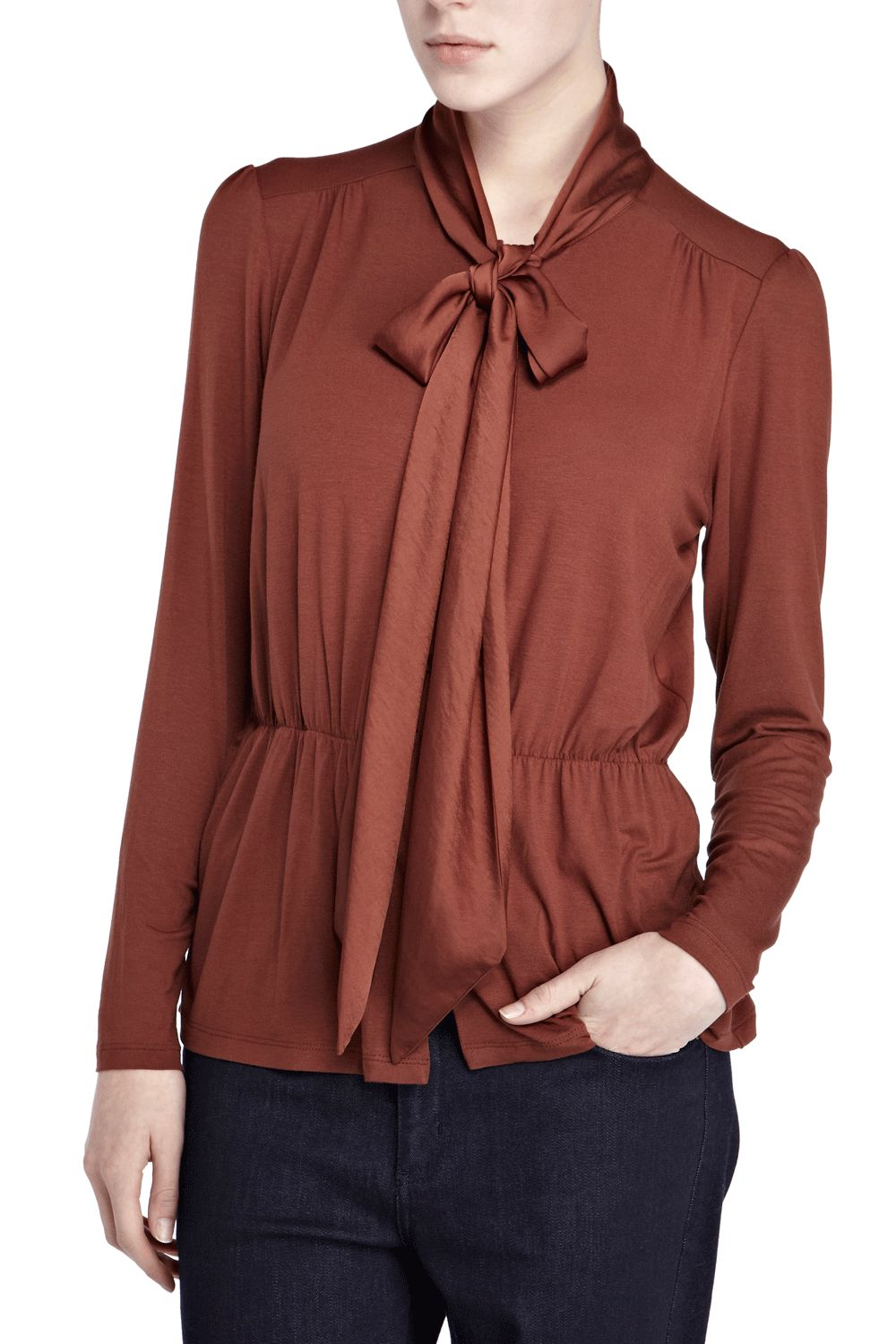 Oasis Pussybow blouse Brown product image