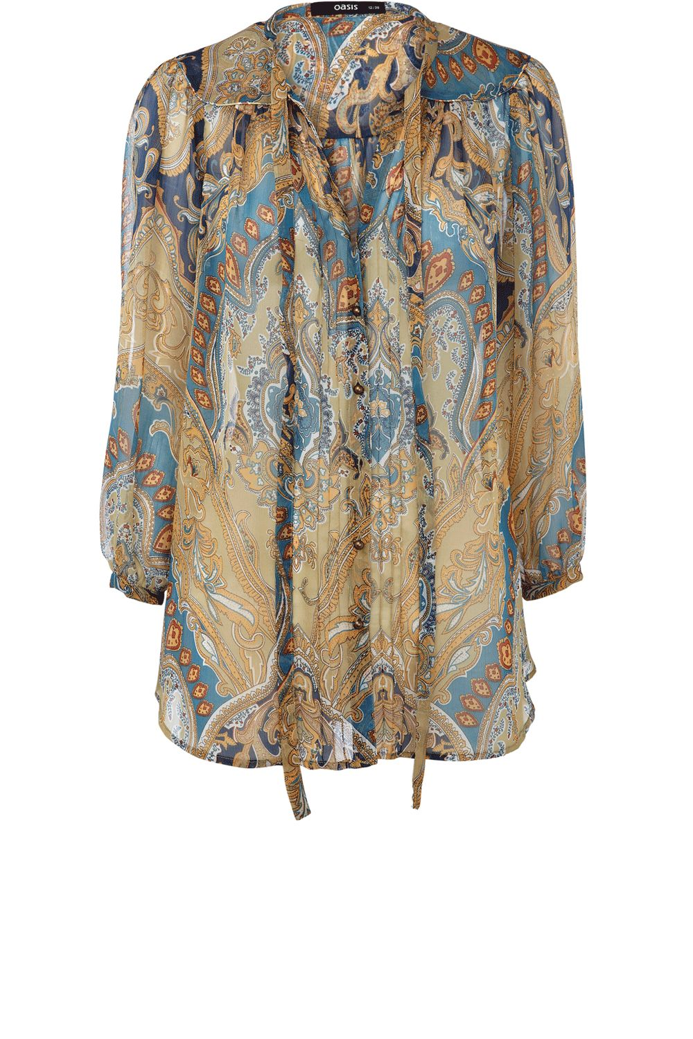 Oasis Womens Oasis Paisley blouse, Multi-Coloured product image