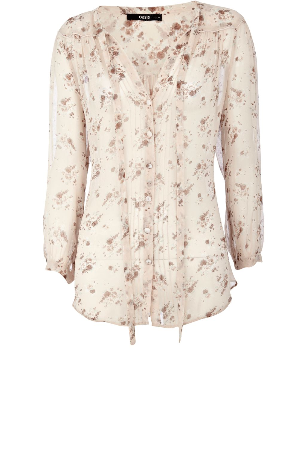 Oasis Oversized floral print blouse - Multi-Coloured product image