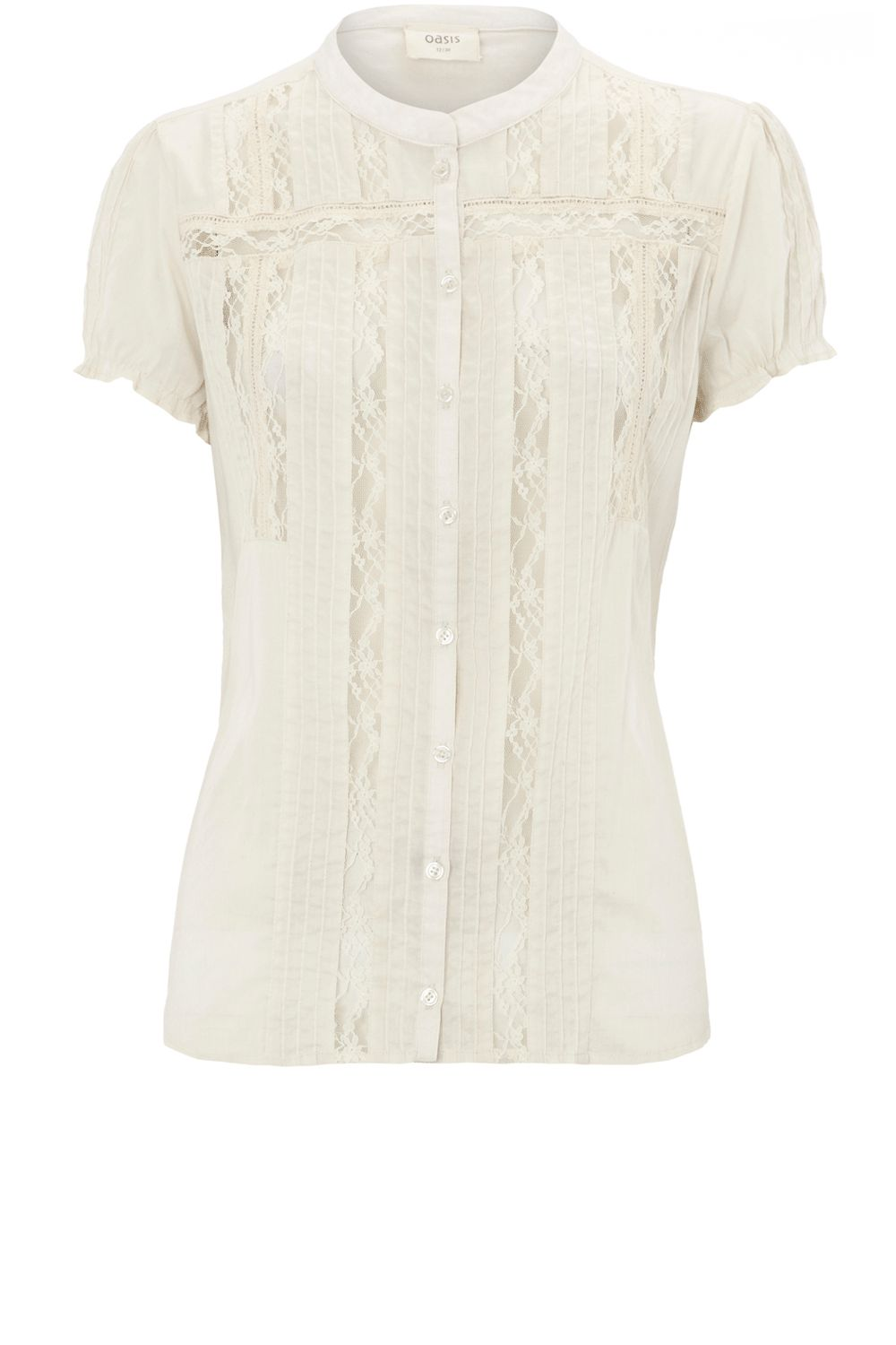 Oasis Crochet trim blouse - Natural product image