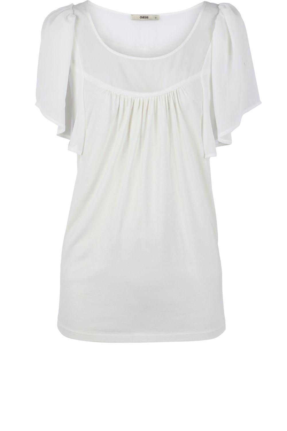Oasis Cape sleeve blouse - Natural product image