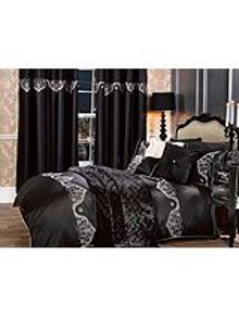 By Caprice Eternity embroidered pattern pillowcases pair