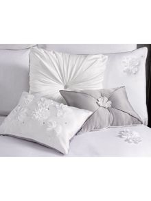 By Caprice Parisian applique floral pillowcases pair