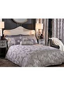 By Caprice Butterfly metallic jacquard duvet cover