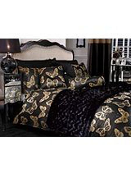 By Caprice Butterfly metallic jacquard pillowcase pair