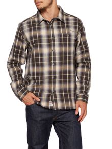 Long Sleeve Herringbone Twill Check Shirt