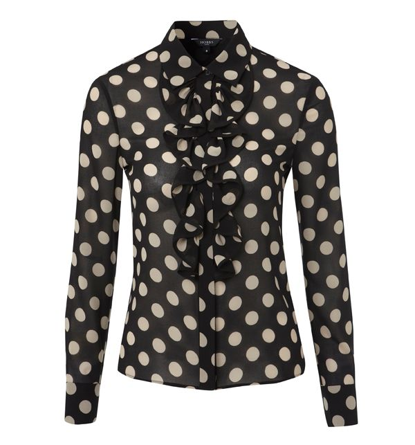 Hobbs Womens Hobbs Olivia blouse, Black 163019598 product image