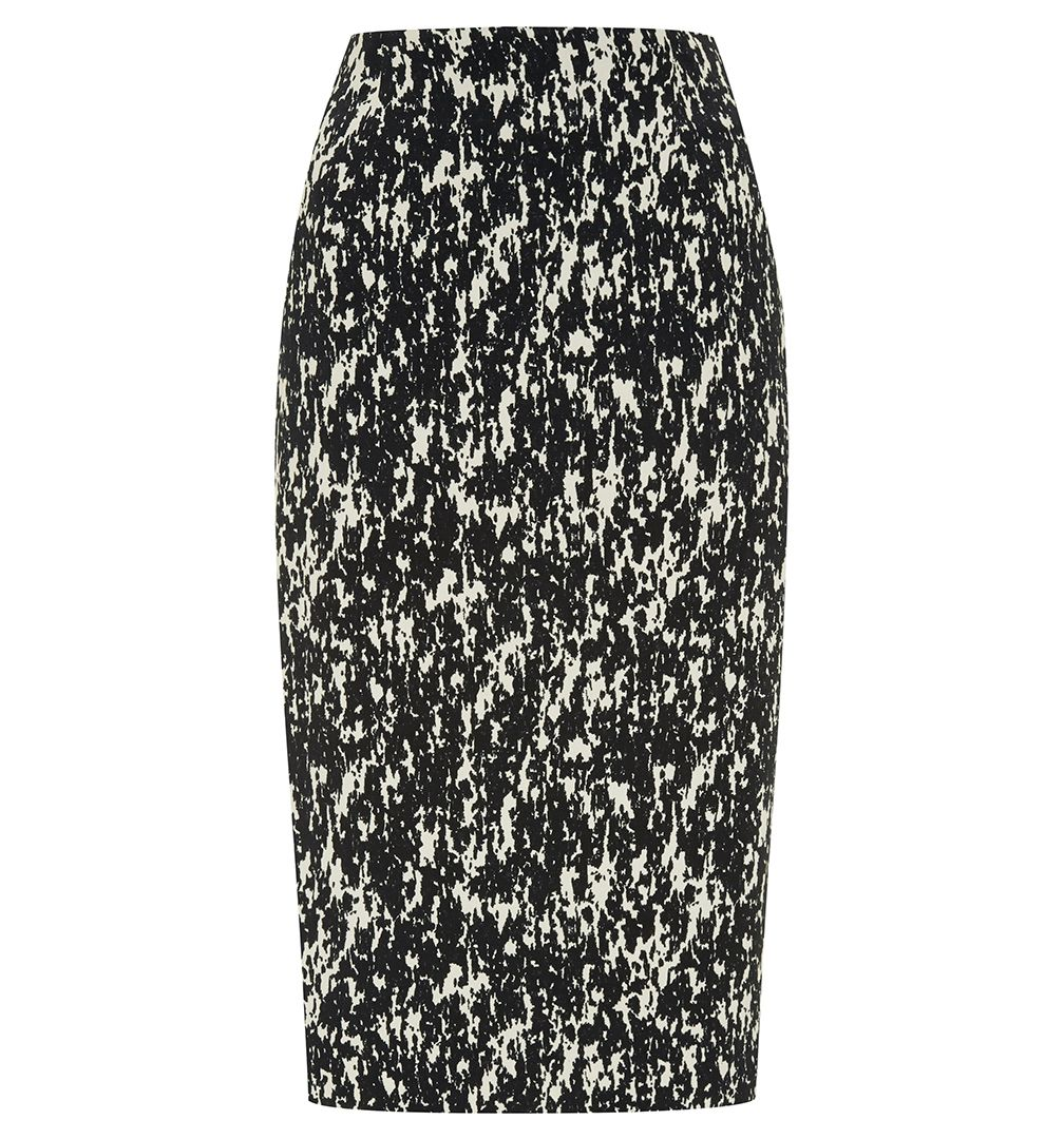 Water Print Pencil Skirt