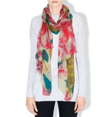 Brush Floral Scarf