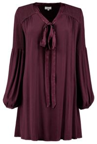 Ghost Marie Dress Aubergine