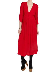 Ghost Claire Dress Poinsettia
