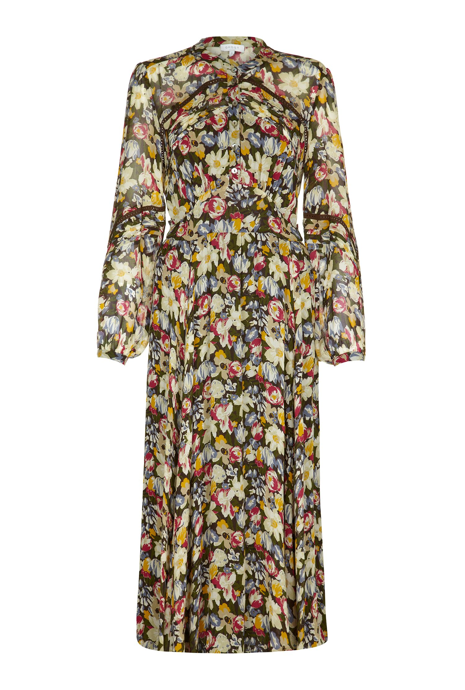 Ghost Martina Dress Phoebe Flower $195.00 AT vintagedancer.com
