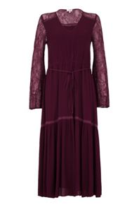 Ghost Nadine Dress Aubergine