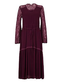 Nadine Dress Aubergine