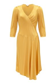 Ghost Bianca Dress Brushed Gold