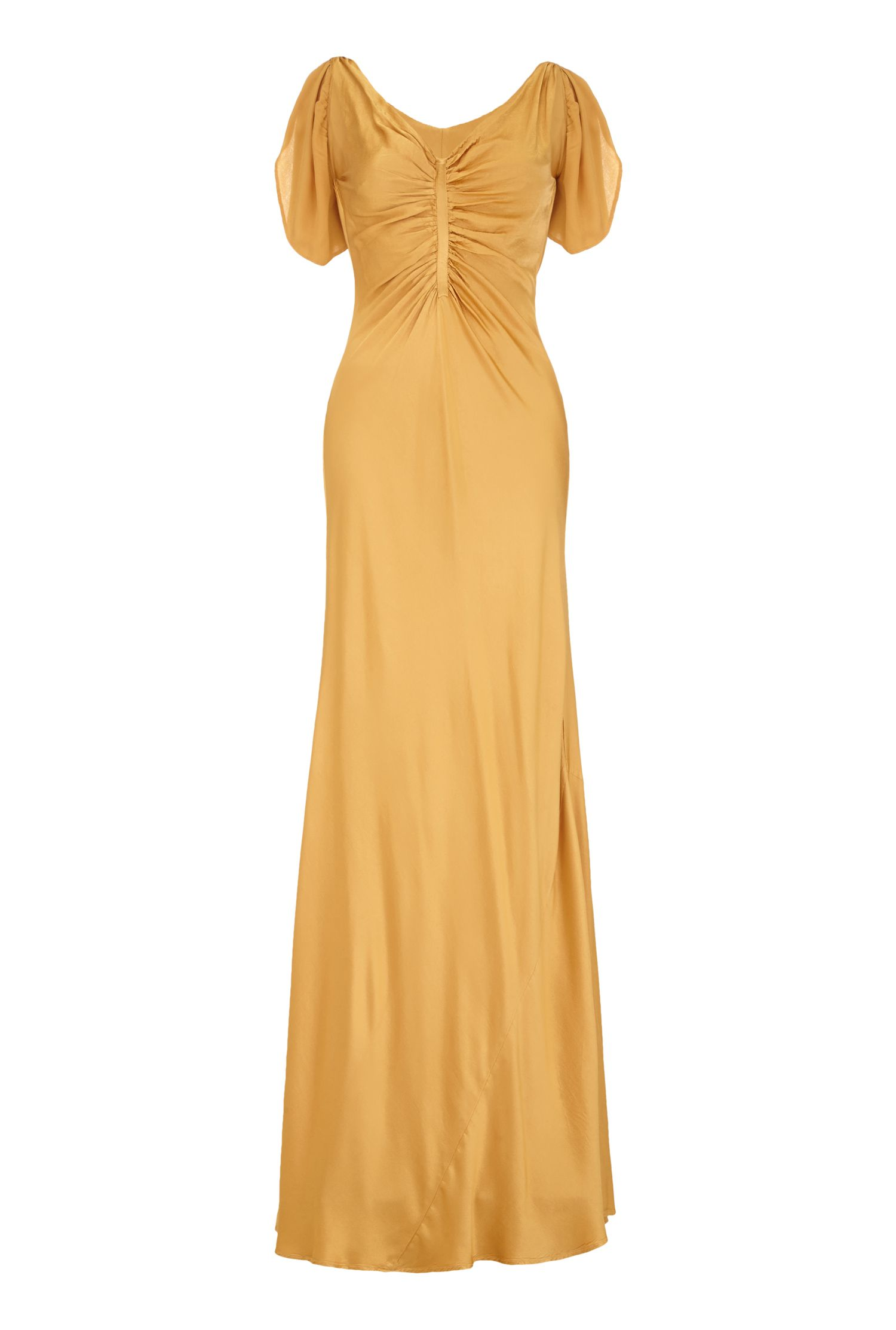 Vintage Inspired Bridesmaid Dresses Ghost Olivia Dress Brushed Gold £88.50 AT vintagedancer.com